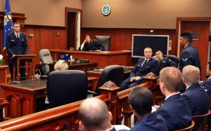 Mock trial image of a court room.