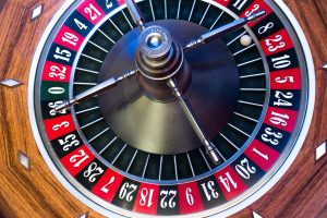 Picture of a roulette table.