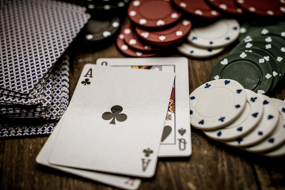 cards and poker chips represent underage gambling in this article, as Atlantic City requires gamblers to be over the age of 21.