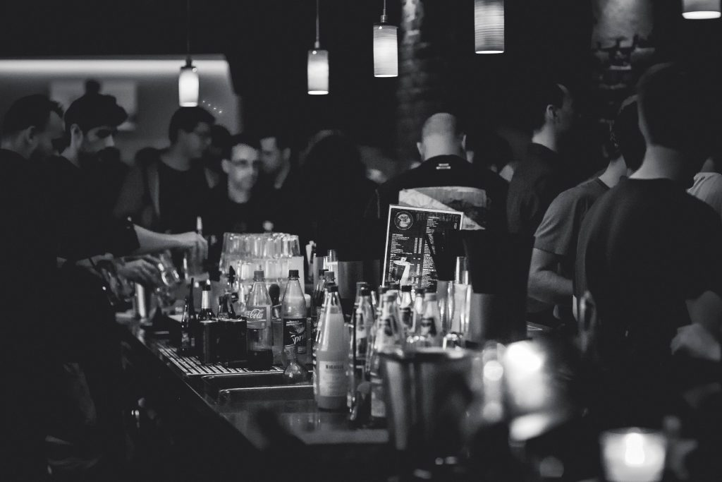 Picture of a busy bar.